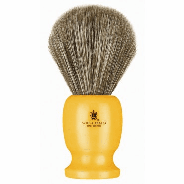 Vie-Long #12750 Horse Hair Shaving Brush - Brown Hair/ButterScotch Handle - Very Classy