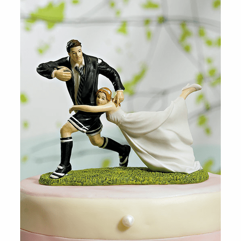 """""""A Love Match"""" Rugby Couple Figurine"""