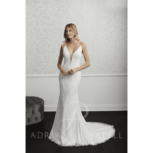 Adrianna Papell Platinum Wedding Dress - 40232