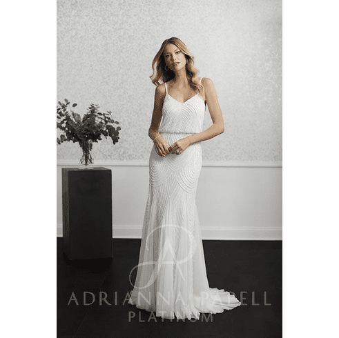 Adrianna Papell Platinum Wedding Dress - 40233