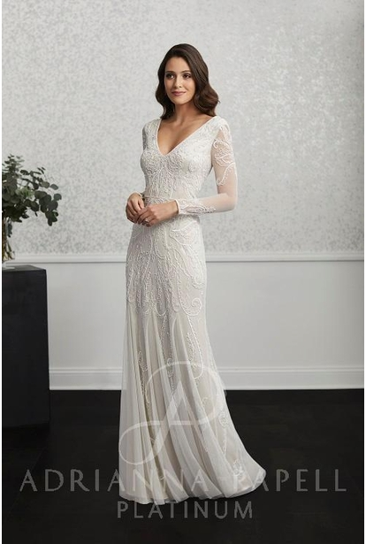 Adrianna Papell Platinum Wedding Dress - 40234