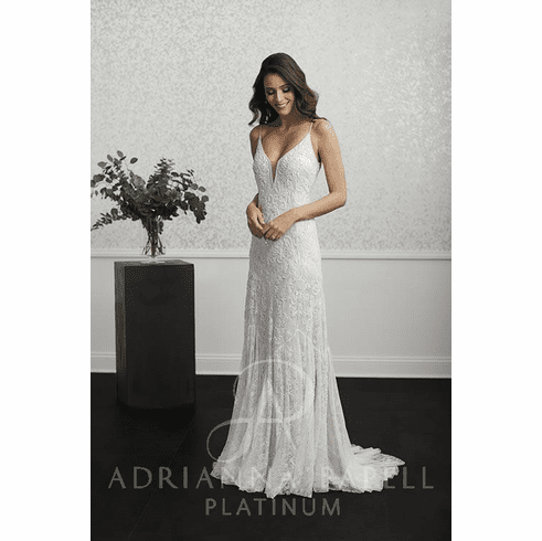 Adrianna Papell Platinum Wedding Dress - 40235
