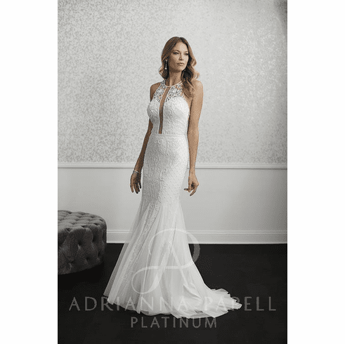Adrianna Papell Platinum Wedding Dress - 40236