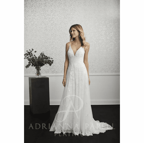 Adrianna Papell Platinum Wedding Dress - 40237
