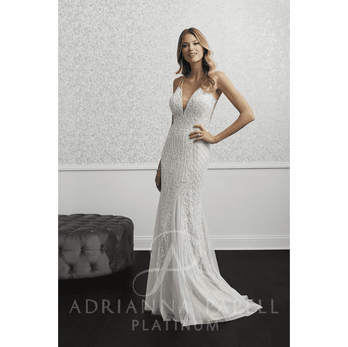 Adrianna Papell Platinum Wedding Dress - 40238