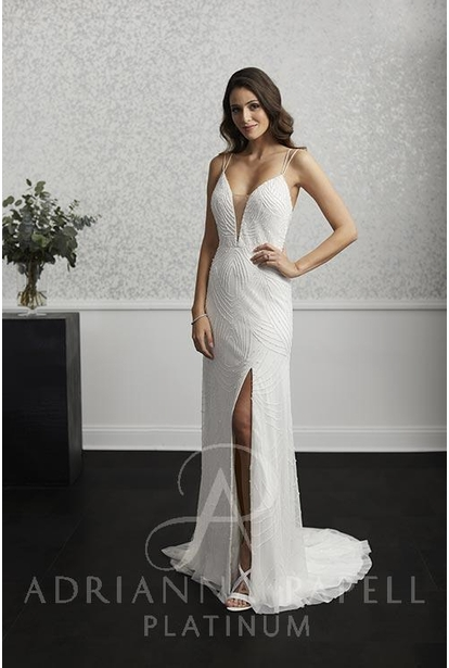 Adrianna Papell Platinum Wedding Dress - 40240
