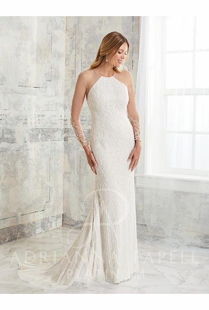 Adrianna Papell Platinum Wedding Dress - 40268