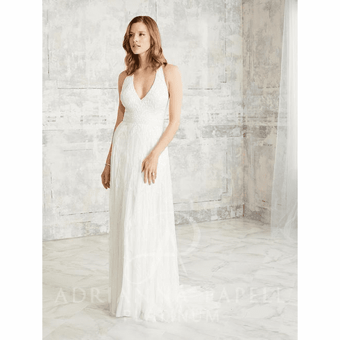 Adrianna Papell Platinum Wedding Dress - 40269