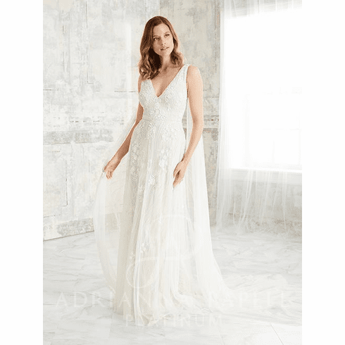 Adrianna Papell Platinum Wedding Dress - 40272