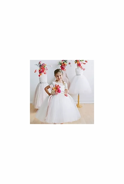Amalee Accessories Flower Girl Dress <br>Style FG133CAP