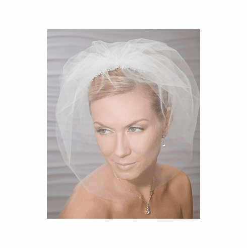 Bel Aire Bridal Cage Veil with Comb 8797