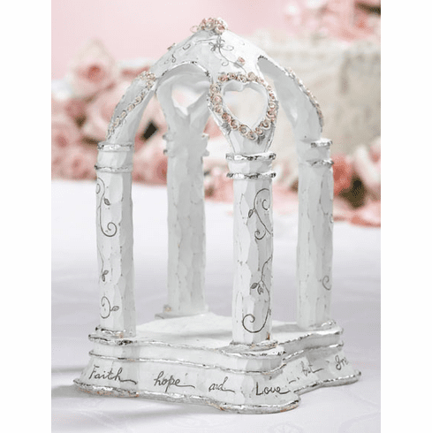 Christian Gazebo Resin Caketop Keepsake