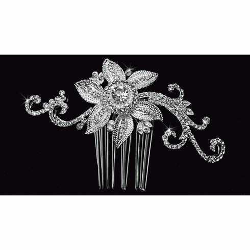 En Vogue Bridal Veil Comb HC1426