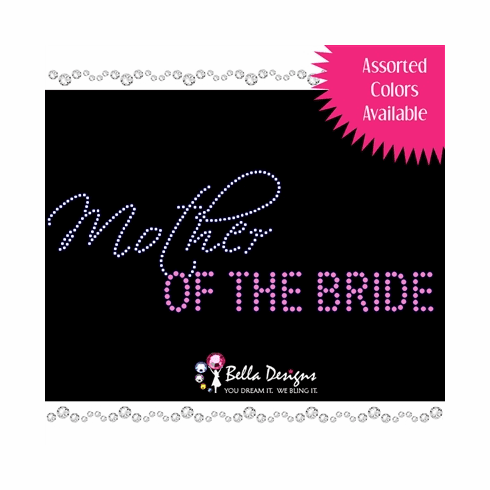 Fashion Mother of the Bride Crystal Iron On
