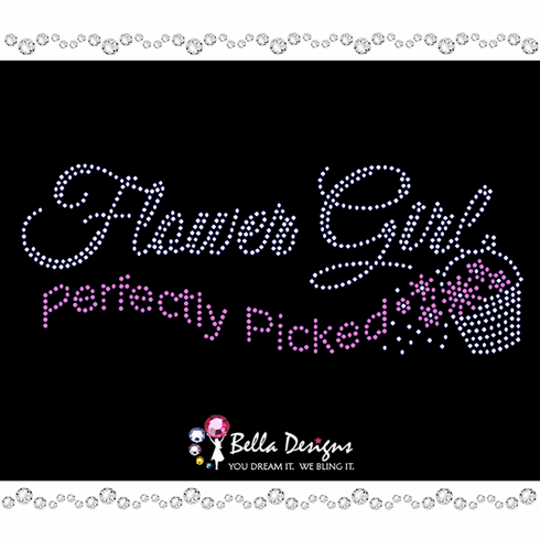 Flower Girl Perfectly Picked Rhinestud Iron on