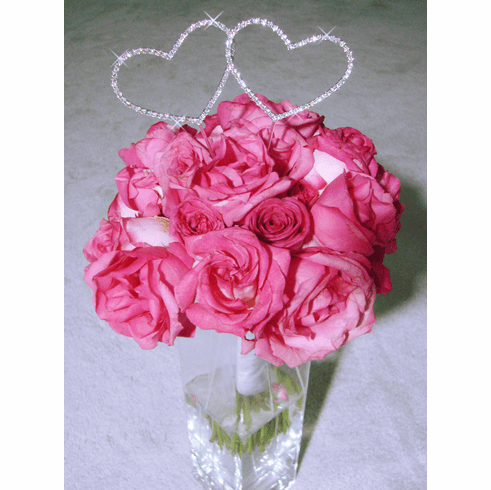 Glamor Crystal Bouquet Hearts