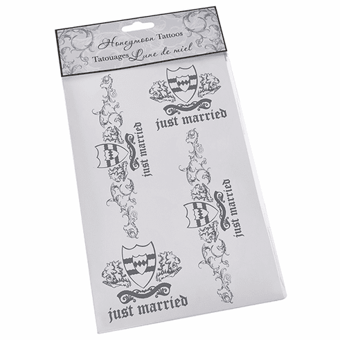 "Groom ""Just Married"" Temporary Tattoos"