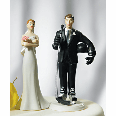 Hockey Groom and Exasperated Bride figurine