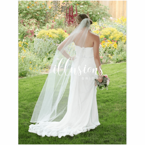 Illusions Bridal Veil T7-721-PRS