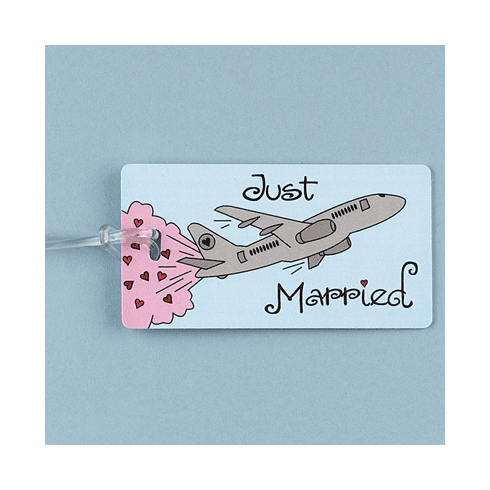 """Just Married"" Luggage Tag"