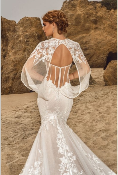 Kitty Chen Couture Wedding Dress - <br> Shae (Cape)