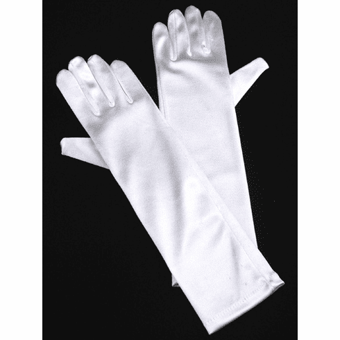 Long Satin Gloves