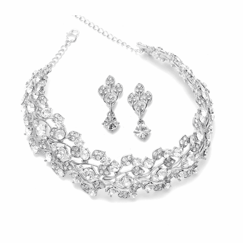 Mariell Bridal Necklace and Earring 750s
