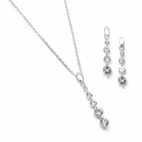 Mariell Bridal Necklace and Earring 762s