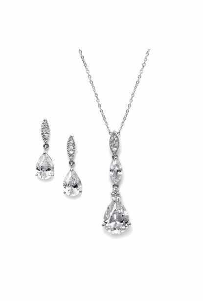 Mariell Bridal Necklace and Earring Set 2030s