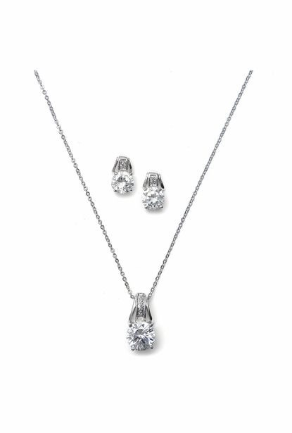 Mariell Bridal Necklace and Earring Set 2039s