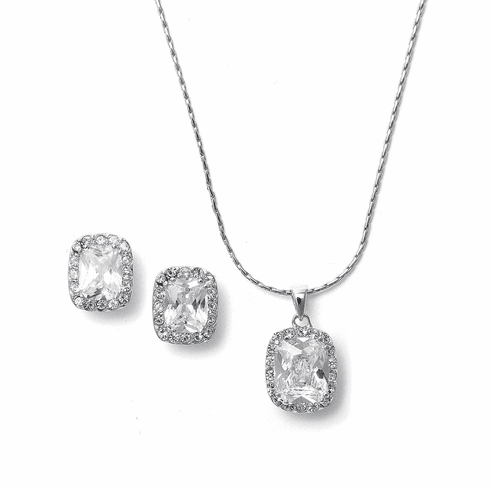Mariell Bridal Necklace and Earring Set 262s