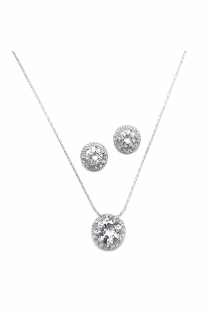 Mariell Bridal Necklace and Earring Set 291s