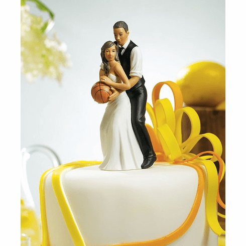 *NEW* Basketball Dream Team Bride and Groom Couple Figurine