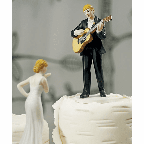 "*NEW* ""Love Serenade"" Guitar Playing Groom Figurine"
