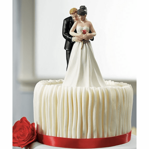 """*NEW* """"Yes to the Rose"""" Bride and Groom Couple Figurine"""