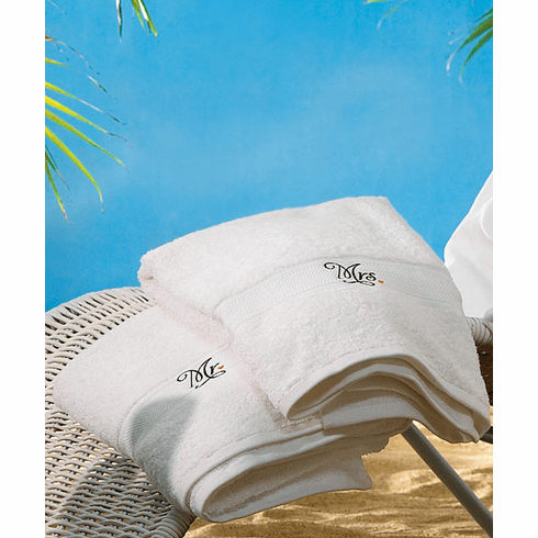 Personalize Mr & Mrs Towels