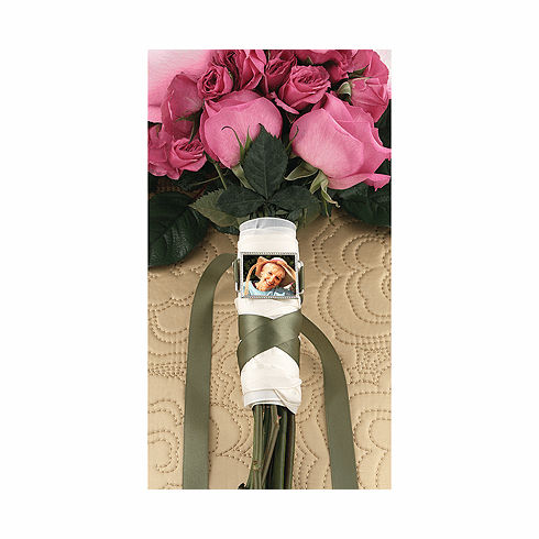 Photo Buckle for Wedding Bouquet