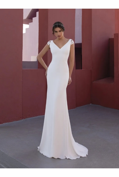 Pronovias White One Dress - <br> Flower