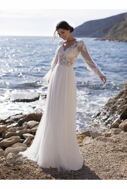 Pronovias White One Dress - <br>Periwinkle