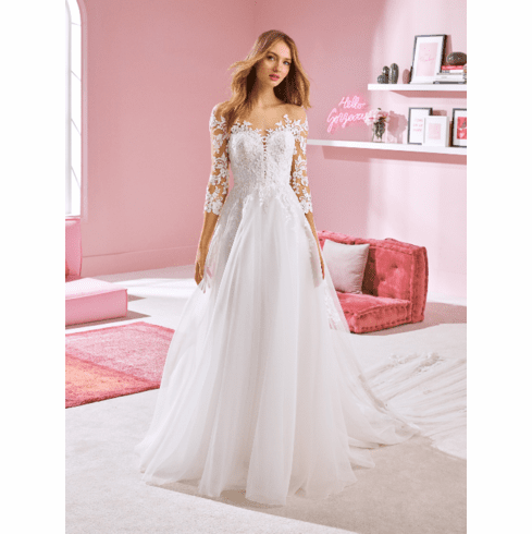 Pronovias White One Wedding Dress - CHLOE