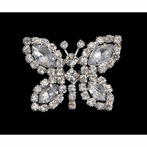 Rhinestone Butterfly Clip on for Shoes