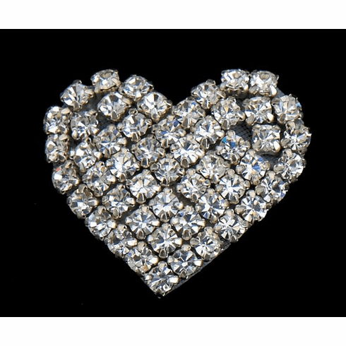 Rhinestone Heart Clip on for Shoes