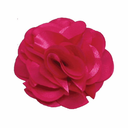 Satin Flower on Clip