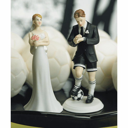 Soccer Player Groom and Exasperated Bride