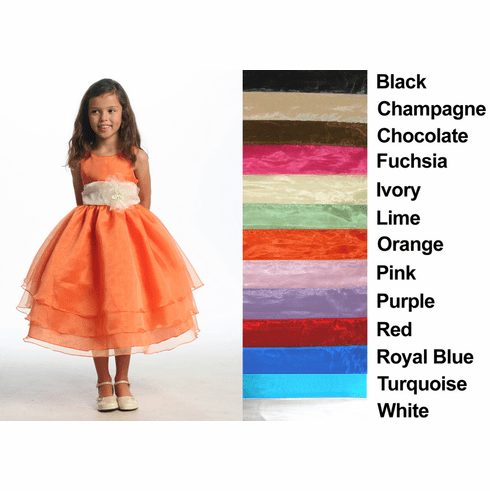 Three Layer Organza Dress Flower Girl Dress - 13 Colors