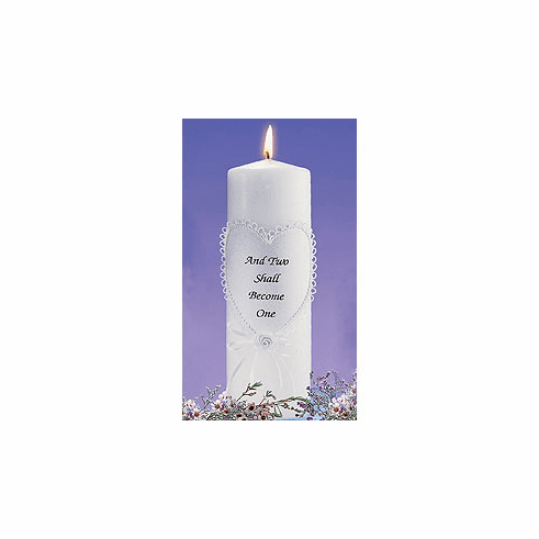 Two Become One Unity Candle