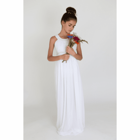 Us Angels Beautiful Grecian Flower Girl Dress Style 672