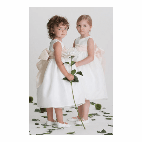 Us Angels Flower Girl Organza Tank Dress Style 409