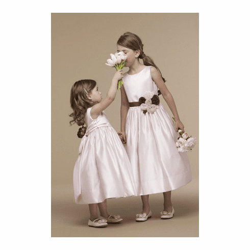 Us Angels Flower Girl Satin Tank Dress Style 702