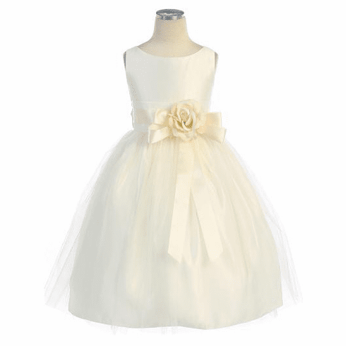 Vintage Satin Tulle Dress- 11 Colors Available